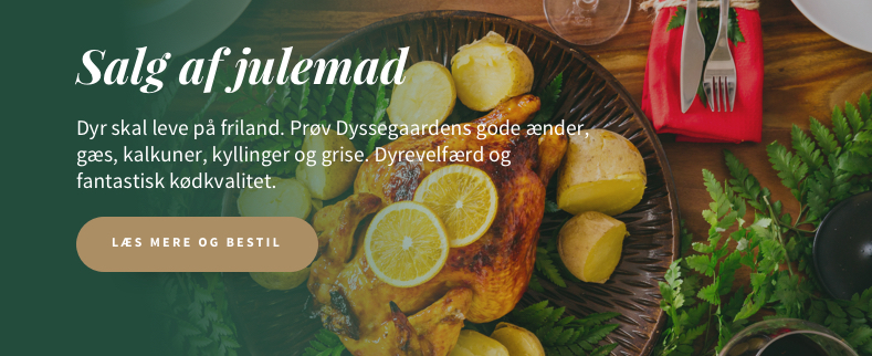 Køb julemad hos Dyssegaarden - Landbutik for Julemad